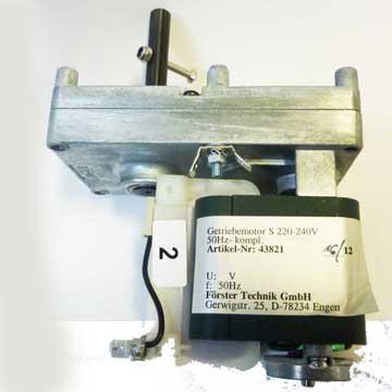 Geared/powder motor